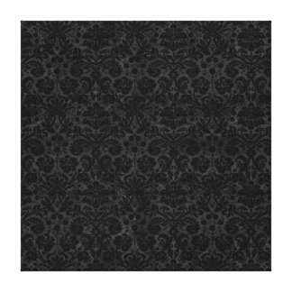 Black Charcoal Damask Stretched Canvas Prints