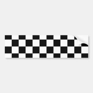 Black Checkerboard Pattern Bumper Sticker