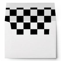 Black Checkerboard Pattern Envelope