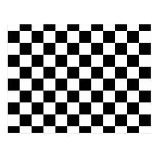Black Checkerboard Pattern Postcard