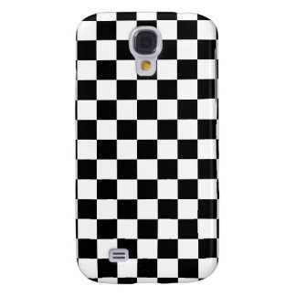 Black Checkered Galaxy S4 Cases