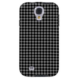Black Checkered Diamond Trendy Art Pattern Galaxy S4 Case