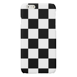 Black Checkered Glossy iPhone 6 Case