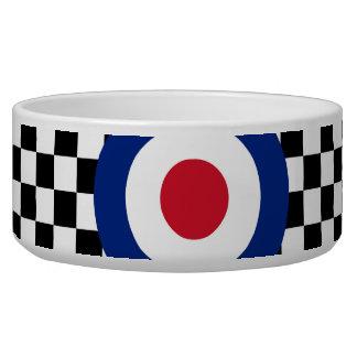 Black Checkered Mod Racing Pattern Bowl
