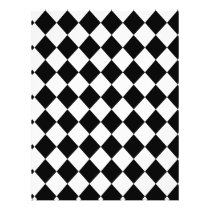Black Checkered Mod Racing Pattern Flyer