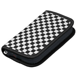 Black Checkered Mod Racing Pattern Organizers
