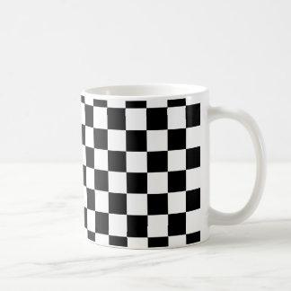 Black Checkered Pattern Coffee Mug