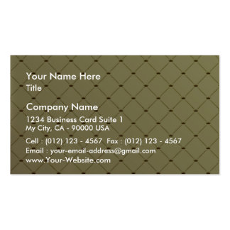 Black checkered pattern on yellow texture business cards