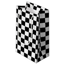 Black Checkered Small Gift Bag