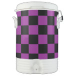 Black checkers on purple background igloo beverage cooler
