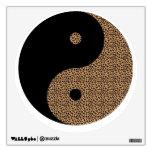 Black & Cheetah Ying Yang Wall Art Design Wall Decals
