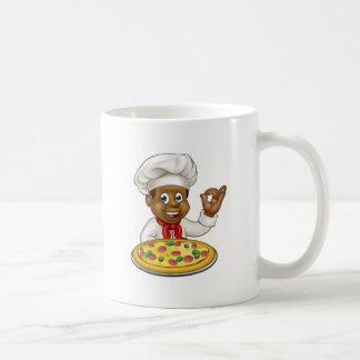 Black Chef Cartoon Character Mascot Coffee Mug