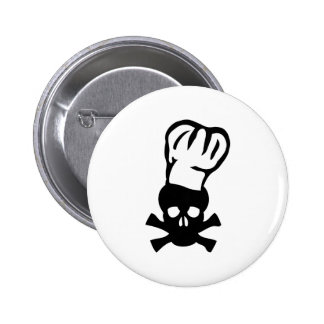 black chef skull chefs head cook buttons