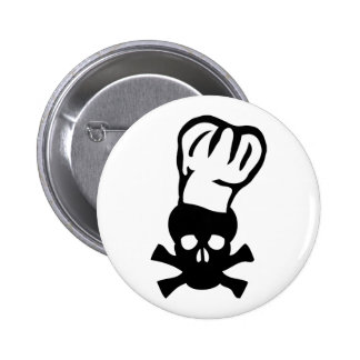 black chef skull chefs head cook pinback buttons