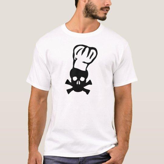 black chef skull chefs head cook T-Shirt
