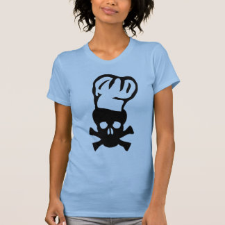 black chef skull chefs head cook tees