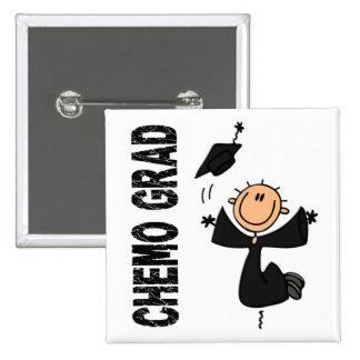 Black CHEMO GRAD 1 (Melanoma) Pinback Button