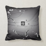 Black Cherry Blossom Tree Throw Pillows