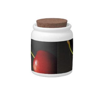 black cherry candy jar