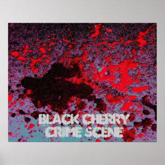 Black Cherry Crime Scene Print