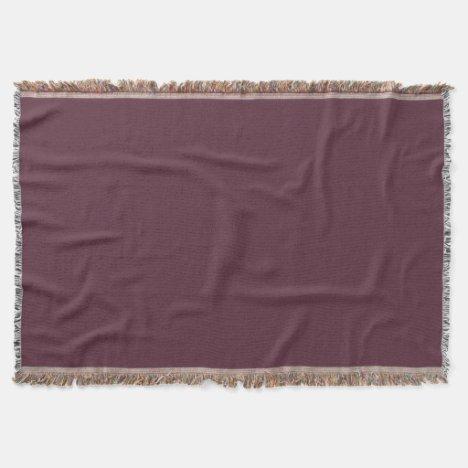 Black Cherry Soda-Colored Throw Blanket