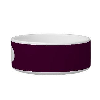 Black Cherry Solid Color Bowl