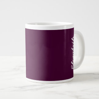 Black Cherry Solid Color Large Coffee Mug