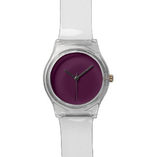 Black Cherry Solid Color Wrist Watches