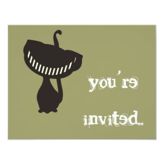 black cheshire cat invitation