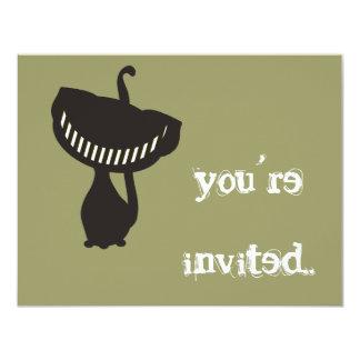 black cheshire cat invitation