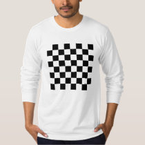Black Chess Board Long-Sleeve T-Shirt