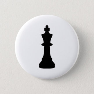 Black Chess king Button