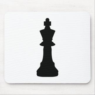 Black Chess king Mousepad