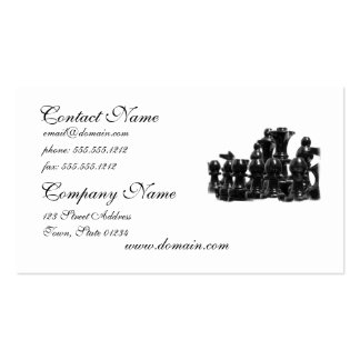 Black Chess Pieces Business Cards