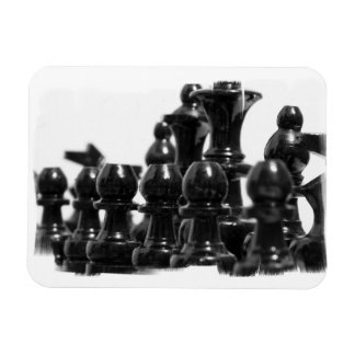 Black Chess Pieces Flexible Magnet Magnets