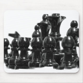 Black Chess Pieces Mouse Pad