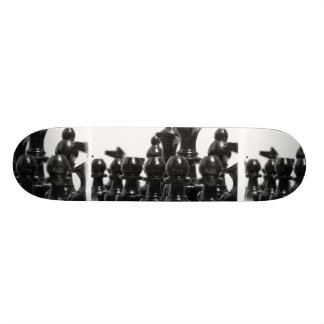 Black Chess Pieces Skateboard