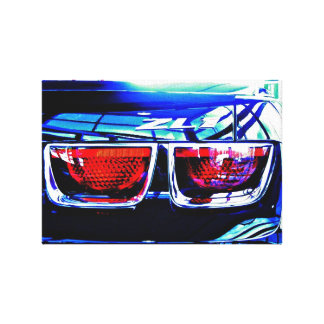 Black Chevrolet Camaro ZL1 Tail Lights and Decal Gallery Wrapped Canvas