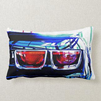 Black Chevrolet Camaro ZL1 Tail Lights and Decal Lumbar Pillow