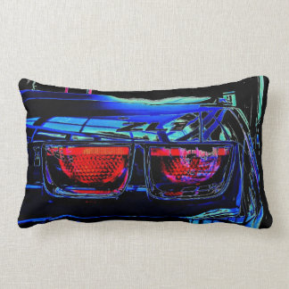 Black Chevrolet Camaro ZL1 Tail Lights and Decal Pillow