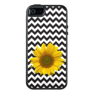 Black Chevron and Sunflower Otterbox OtterBox iPhone 5/5s/SE Case