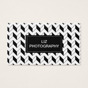 Professional Business Black Chevron Business Card