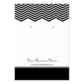 Black Chevron Custom Earring Display Card Large Business Card