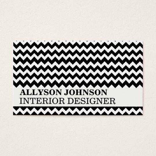 Black Chevron Design Business Cards