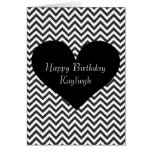Black Chevron Greeting Card