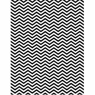 Black Chevron Pattern Cutout