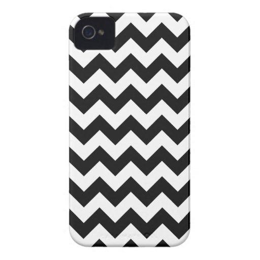 Black Chevron Pattern iPhone 4 Cover
