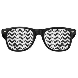 Black Chevron Retro Sunglasses