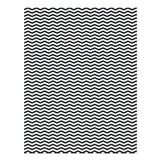 Black Chevron/Zig Zag Scrapbook Paper Full Color Flyer