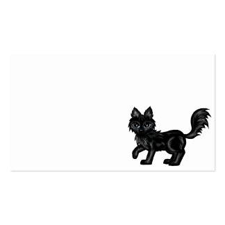 black chibi wolf business cards
